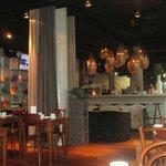 El hall hace a su vez de recepción bar y  zona de desayuno