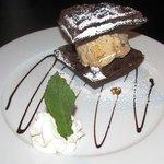 Chocolate Belgian Waffle Napoleon
