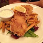 Fish and chips - $16 - with  seasoned fries