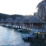 Over the water bungalows facing west