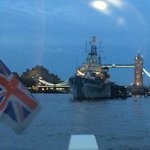 On the Way back from London Eye on the River Bus with HMS Belfast & Tower Bridge.