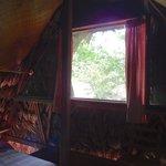 Open air window in lower room