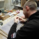 Artist Creating Marble Jewelry