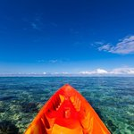 Kayaking off the beach