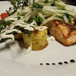 Alaskan king salmon, celery root and parsley salad with hint of lemon zest