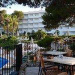 Hotel from beach bar.