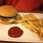 Turkey burger & seasoned fries - approximately $12-$13