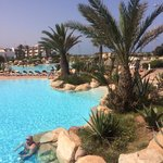 One of the pools at Riu Tikida Dunas, Agadir, Morocco