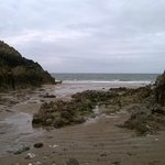 Mewslade Bay 1.5 mile walk away