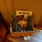 Welcome basket included almonds, chocolates, and local tourist information