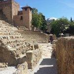 Vue sur le côté du théâtre romain
