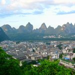 View of Yangshuo from park next to West Street
