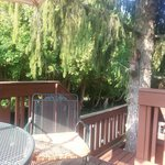 On the deck, Enchanted Treehouse suite