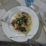 cotes d'agneau (sauce aubergine et noix)