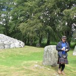 Gordon at the Clava Cairns