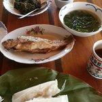 Traditional Kelabit meal for lunch