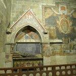 Tomb and paintings at Salamanca Cathedral.