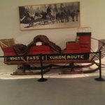 A sleigh used over the white pass