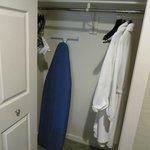spacious closet with supplied robes