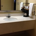 Bathroom with coffee maker