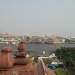 チャオプラヤ川の対岸の風景