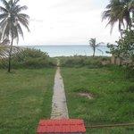 Distância da casa à praia