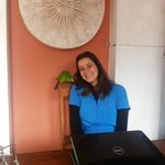 Erica, the manager and her bird