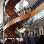 Hotel's beautiful stairs to second and third floor (optinonal) but you also use elevator