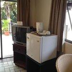 Ocean view room - tv and fridge
