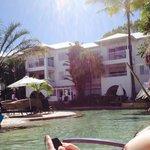 Beautiful hotel that backs onto the beach