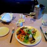 wonderful in room seafood salad