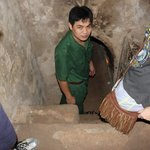 the entrance into the cu chi tunnel