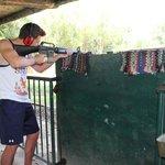 firing off an M16
