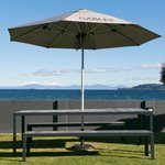Great outdoor seating and those views....