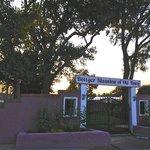 Entry to Bottger Mansion at Sunset