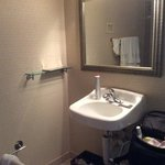 Not much room to put things. (handicap room)