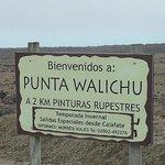 Letrero de Punta Walichu