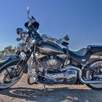 A Nice Harley At Mt. Soledad