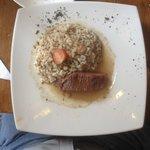Plateada con risotto de aceitunas (este es todo el trozo de plateada)