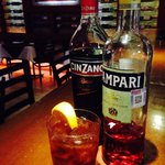 Famous Negroni traditional Italian cocktail!