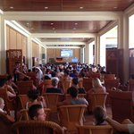 2014 FIFA World Cup final - fans for both teams - rest of hotel empty
