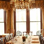 Dining room set for private event