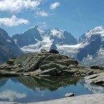 Piz Bernina von der Surley aus mit Bianco-Grat links im Bild