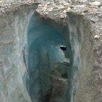 Spalte im Roseg-Gletscher