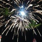 Fireworks show on the beach