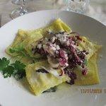 small serve of Ravioli al Trevignano at Naumachia