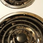 Dirty cook stove in room