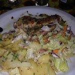 O prato de filet peixe