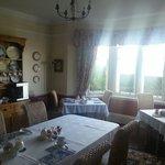 Breakfast room and dinner.
