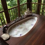 Bubble bath with a view!!